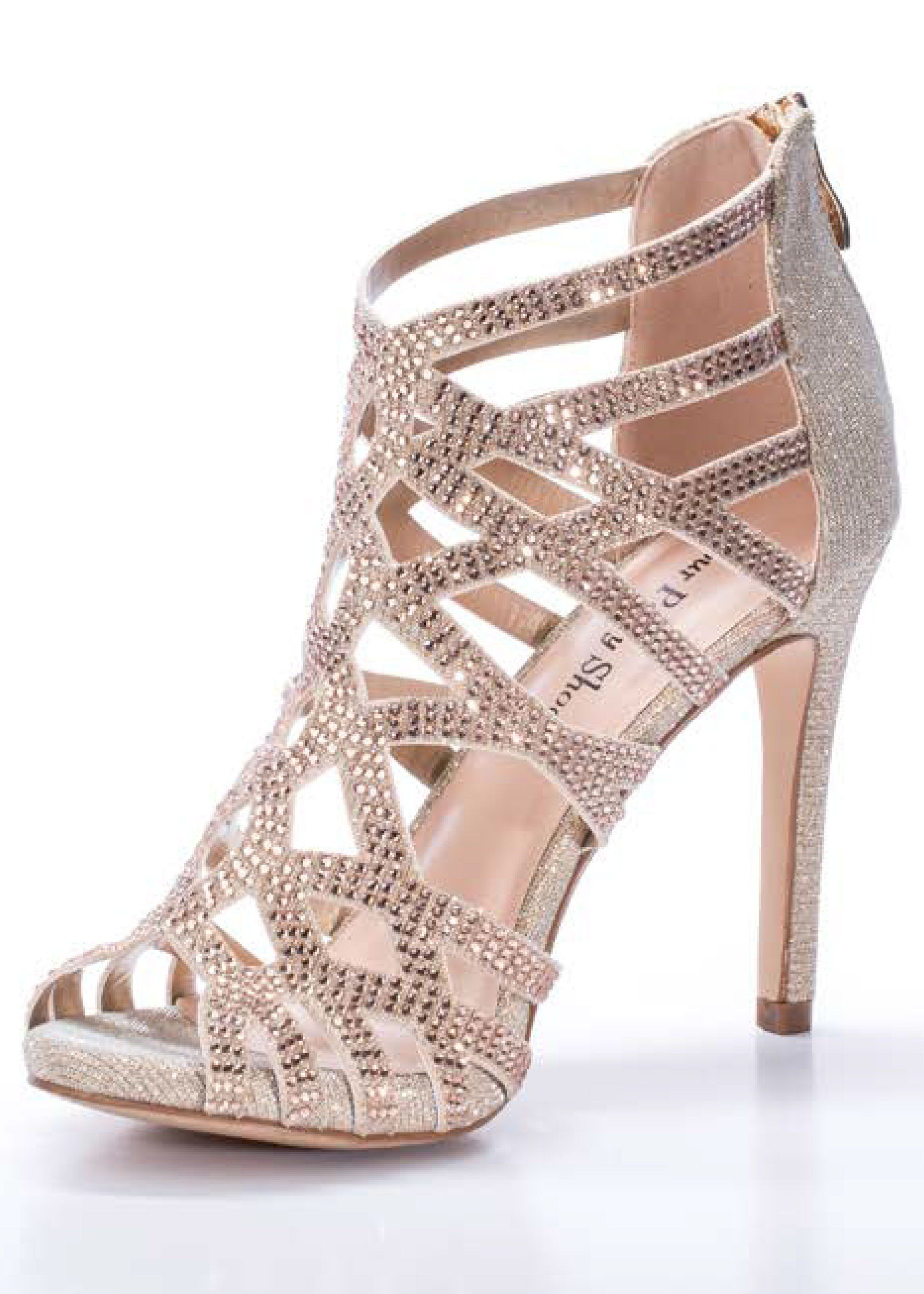 Sexy jeweled high heels sandal