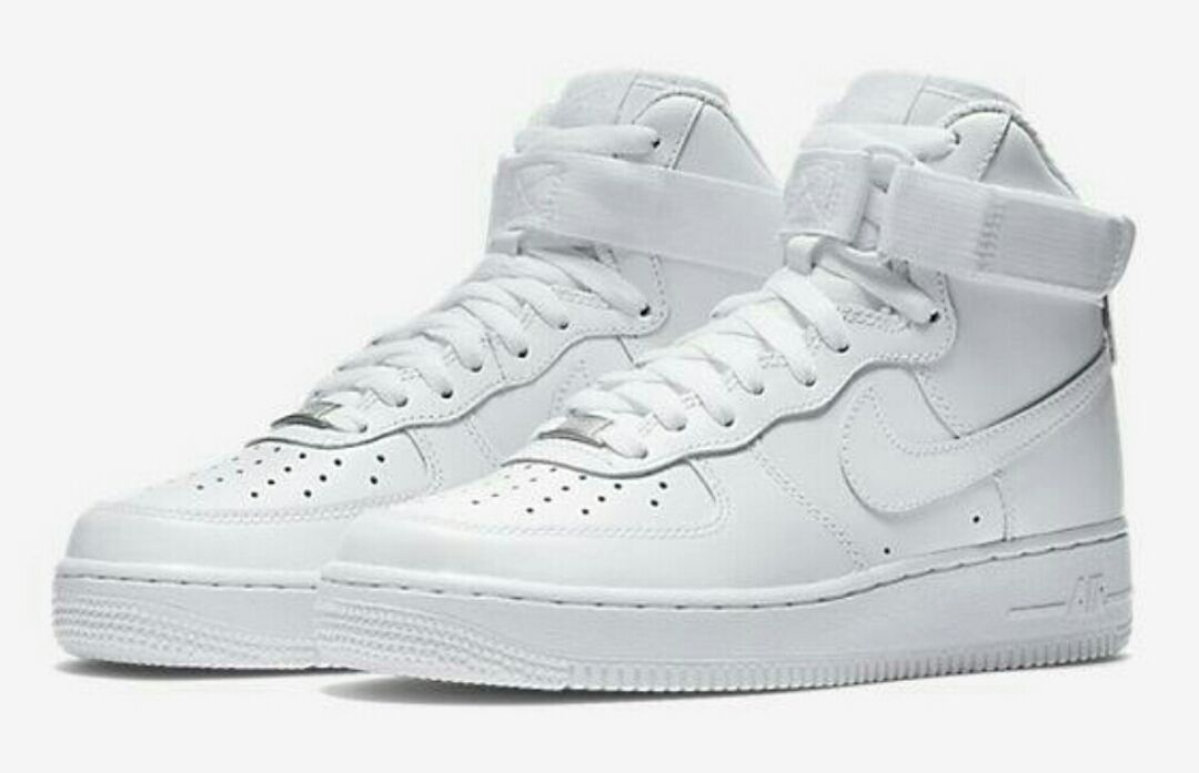 Nike Air Force 1 high top with elastic straps