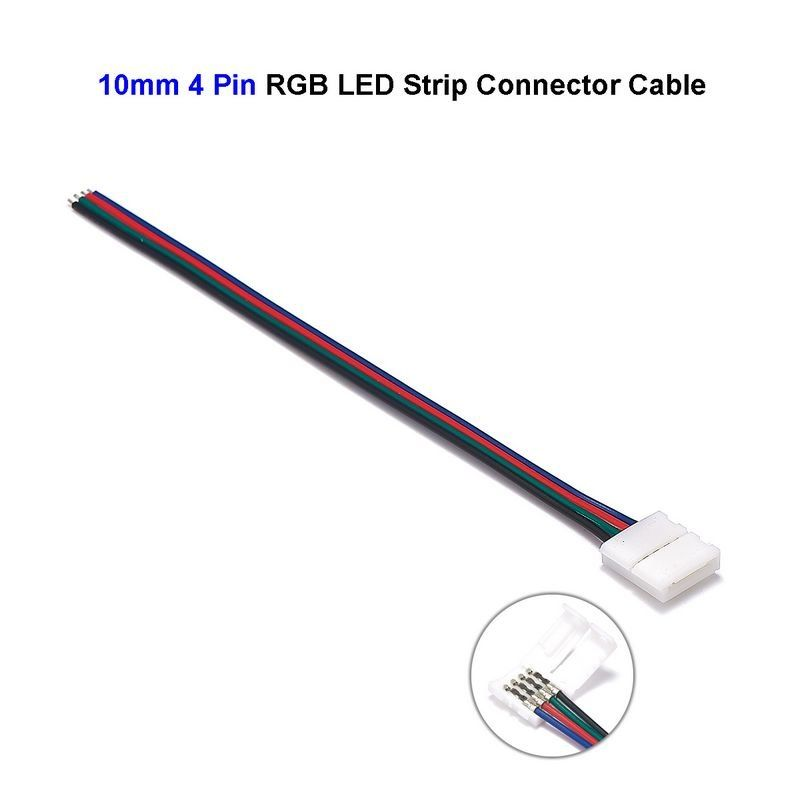 LED RGB Strip Connectors 4 Pin LED Connector Cable Power