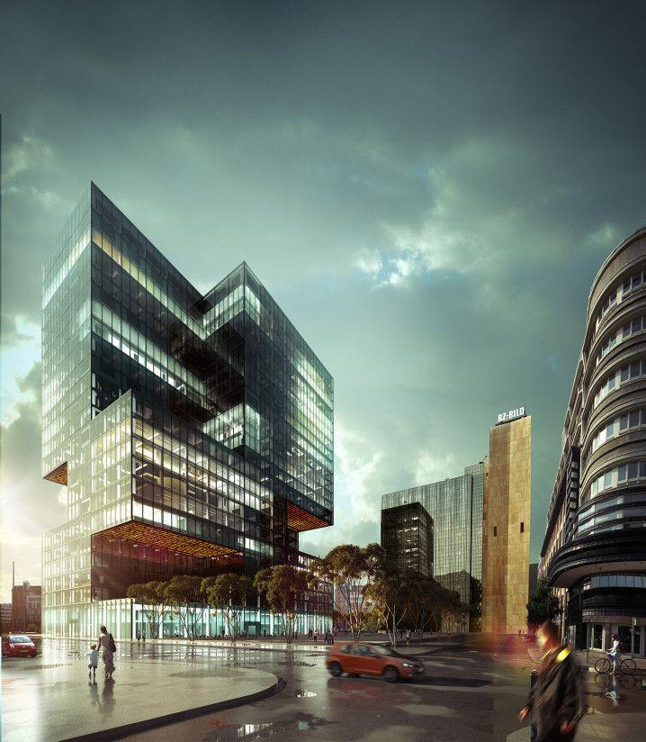 Modern Architecture Render beautiful modern architecture render in decorating ideas