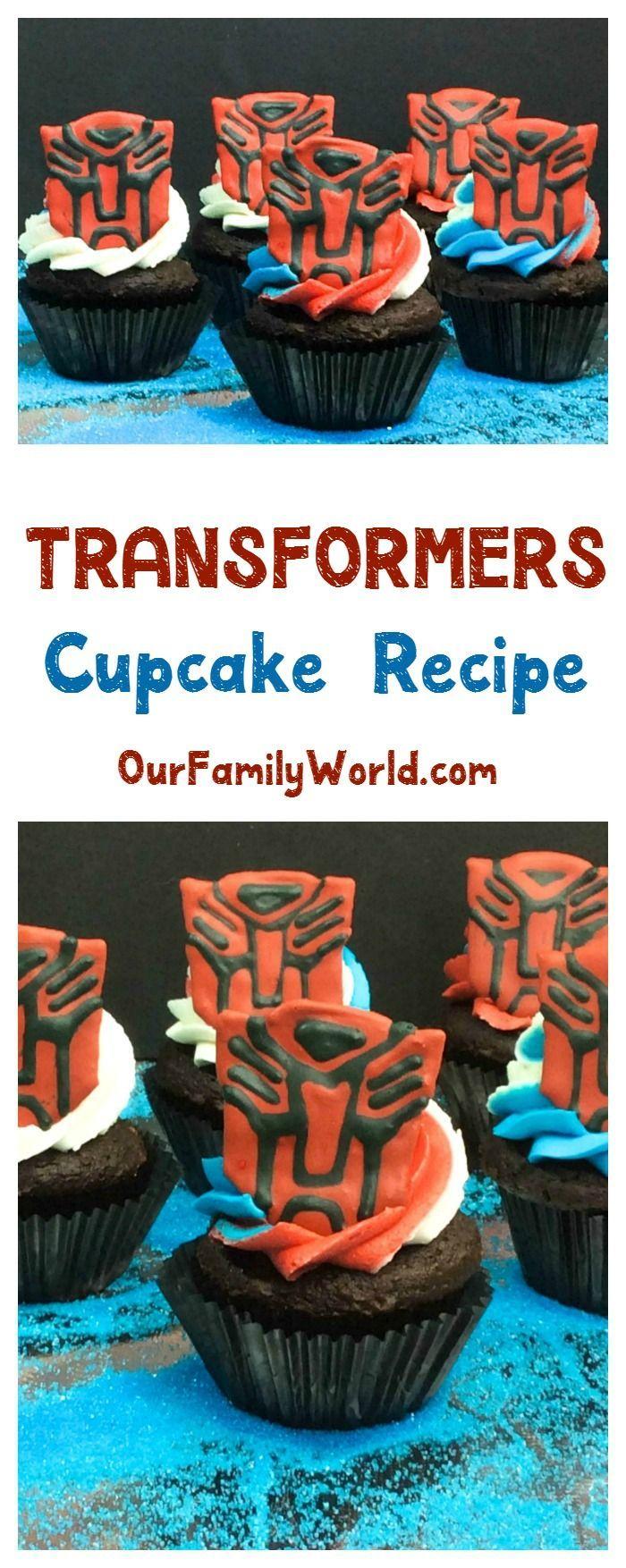 Your favorite autobot recipe transformers cupcakes birthday fun