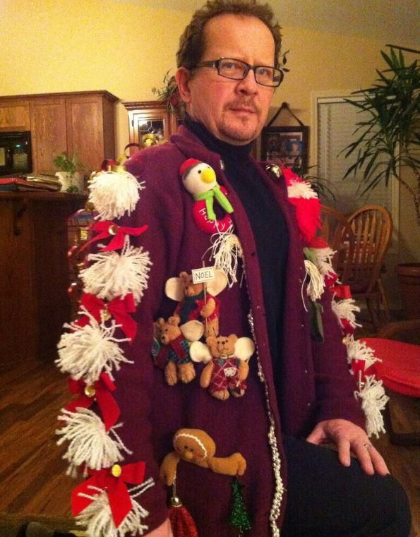 Ideas For A Ugly Christmas Sweater Party Part - 20: Deck The Arms Homemade Ugly Christmas Sweater | If Youu0027re Looking For Ugly  Sweater