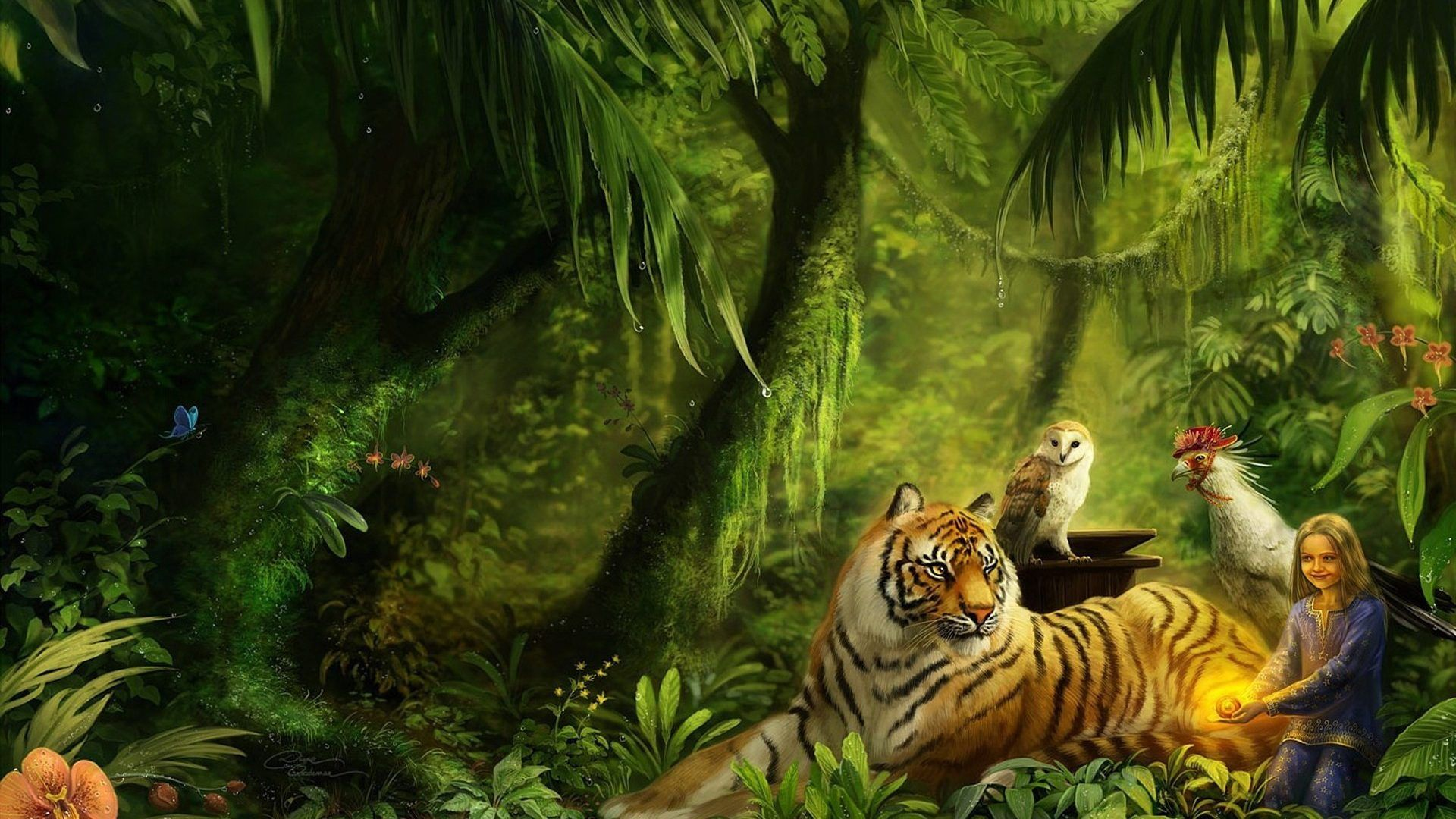 Forest Tiger Nature Dream Wallpapers1920x1080