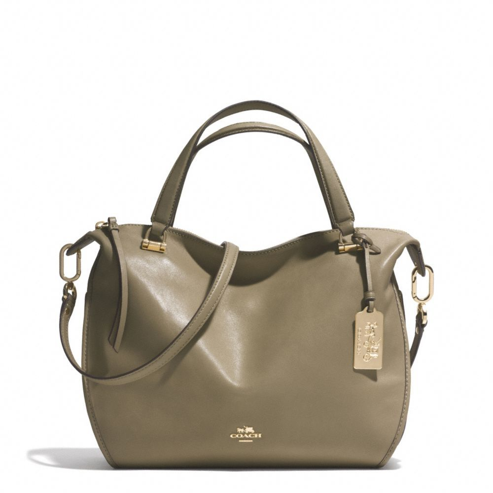 The Madison Smythe Satchel In Leather from Coach  // 358