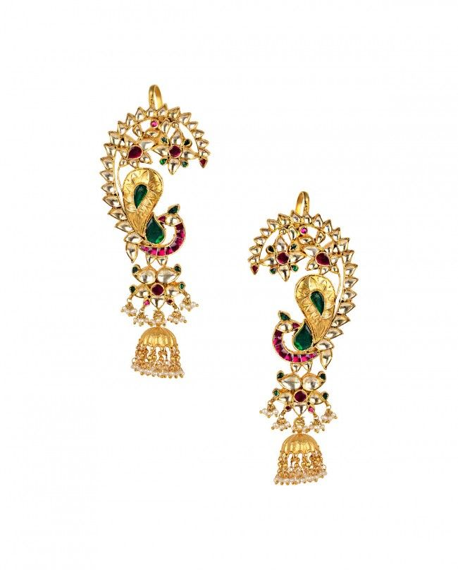 d30d16da4 Peacock Ear Cuff with Jhumka Drop - New Arrivals | Stuff to buy ...