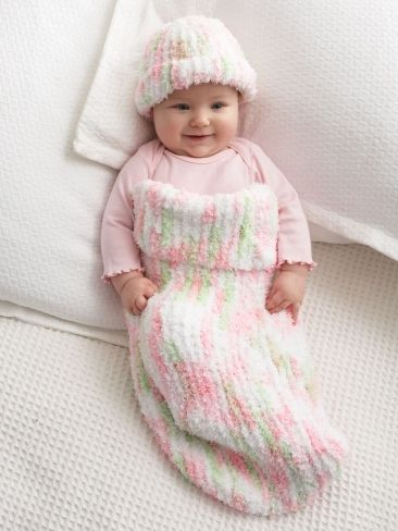 This adorable Knitting Pattern makes the softest, coziest Baby ...