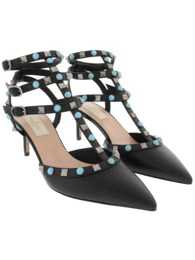 VALENTINO Valentino Ankle Strap Rockstud Rolling. #valentino #shoes #valentino-ankle-strap-rockstud-rolling