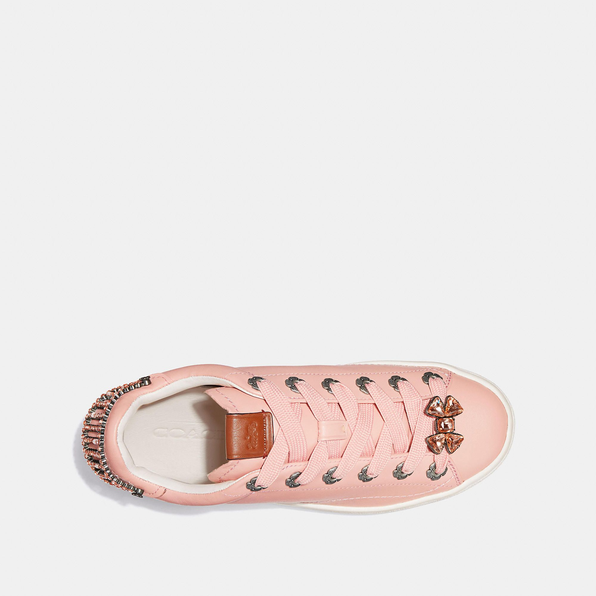af7741132d4a COACH C101 With Tea Rose Eyelets And Bow - Women s Size 5.5 Tennis Shoes