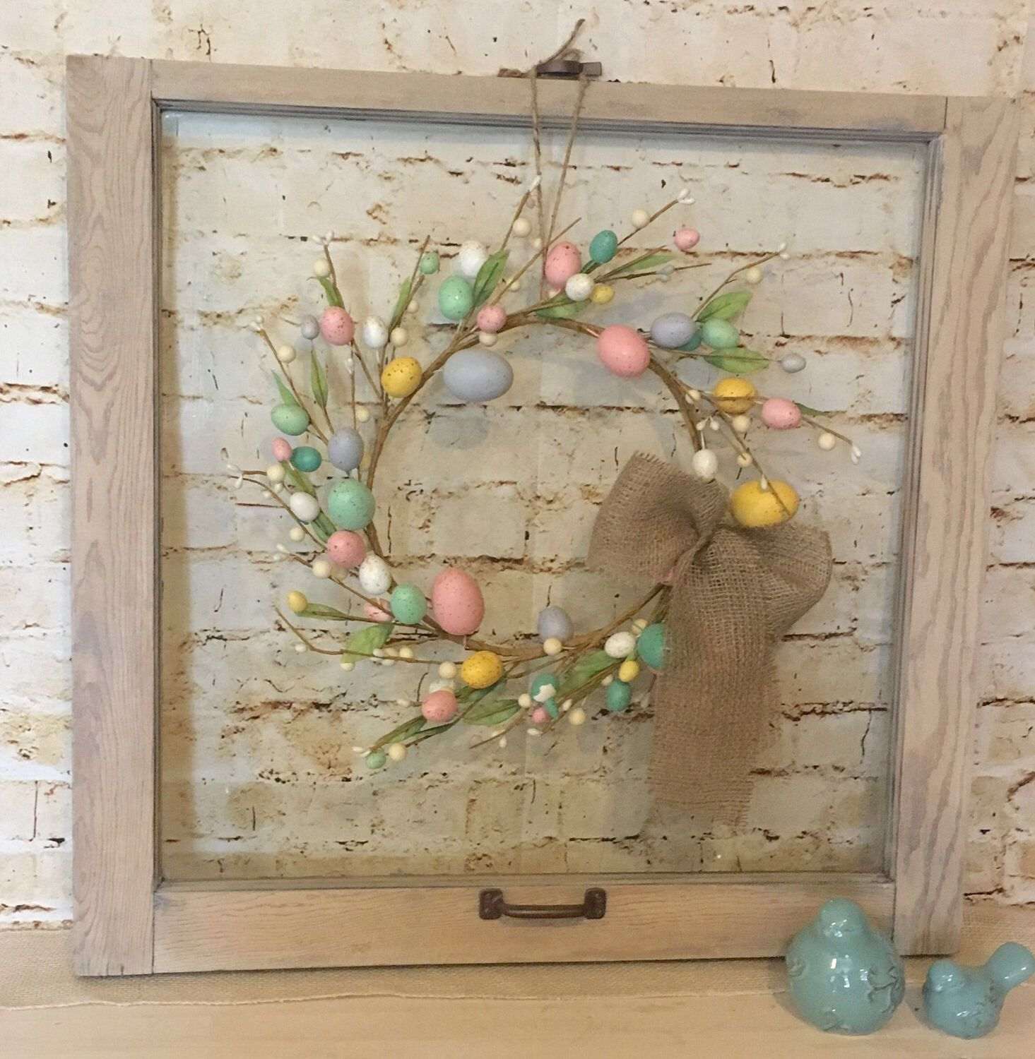 Vintage Window With Glass, Old Window Frame, Vintage Window, Farmhouse