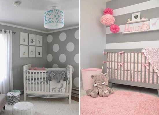 quarto menina tema elefante Pesquisa Google Baby  ~ Quarto Riscas Cinza