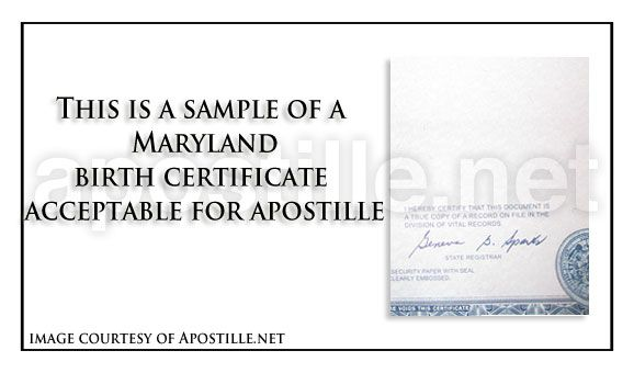 Maryland birth certificate for apostille State of Maryland - sample marriage certificate