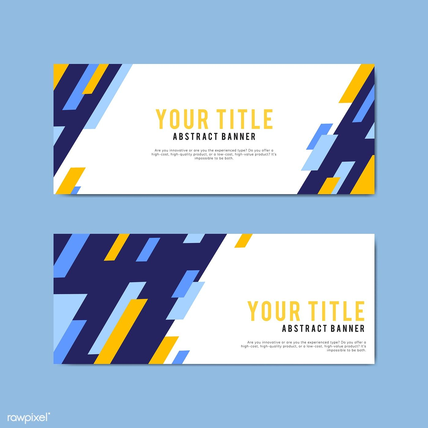Colorful And Abstract Banner Design Templates Free Image By Rawpixel Com Banner Design Banner Template Design Web Banner Design