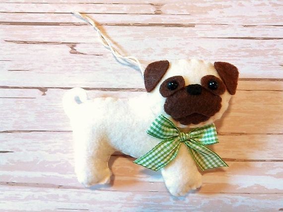 Hey, I found this really awesome Etsy listing at https://www.etsy.com/listing/246462022/felt-pug-ornament-felt-pug-plush-dog