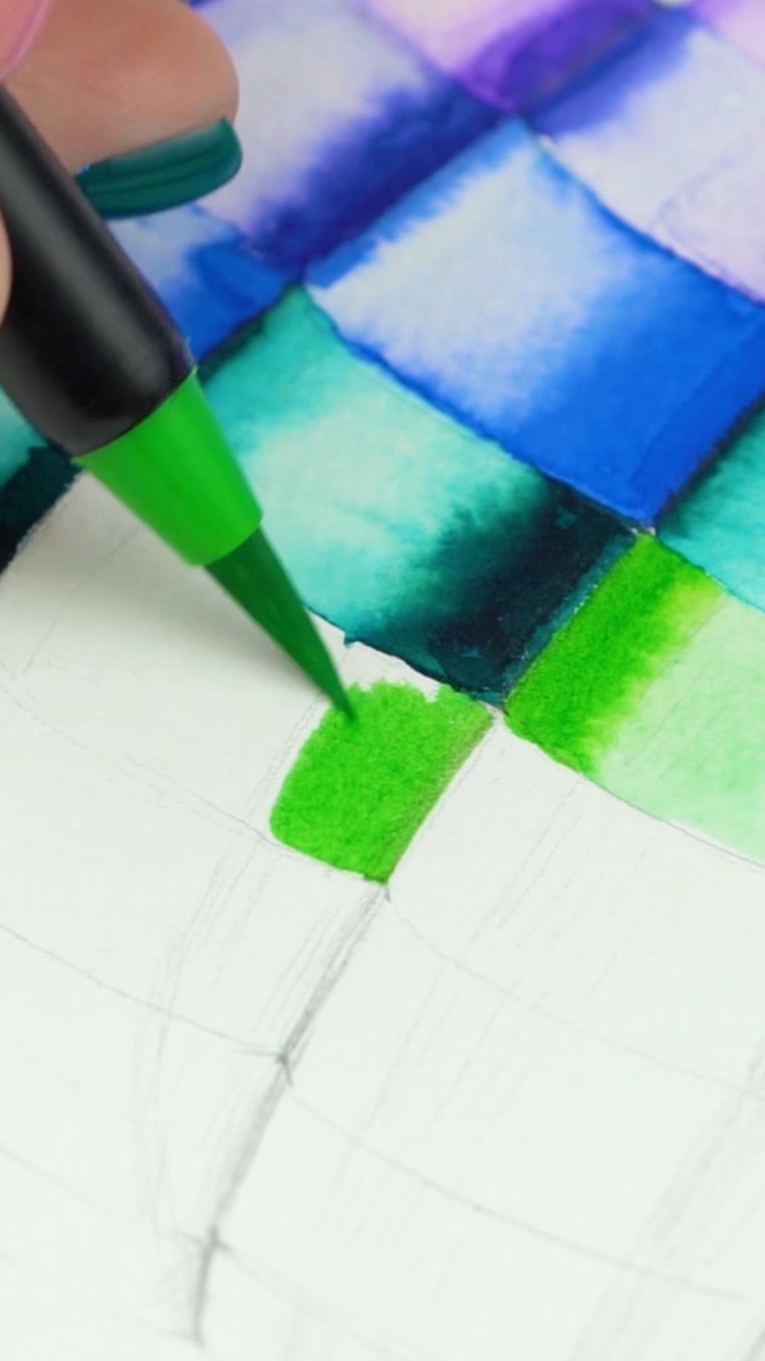 Watercolour Real Brush Pens - Set of 48 [Video] | Brush pen art, Brush pen, Paint brush drawing