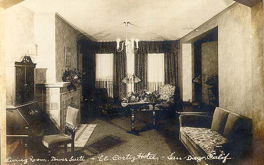 The Living Room El Cortez Hotel. San Diego, Ca.