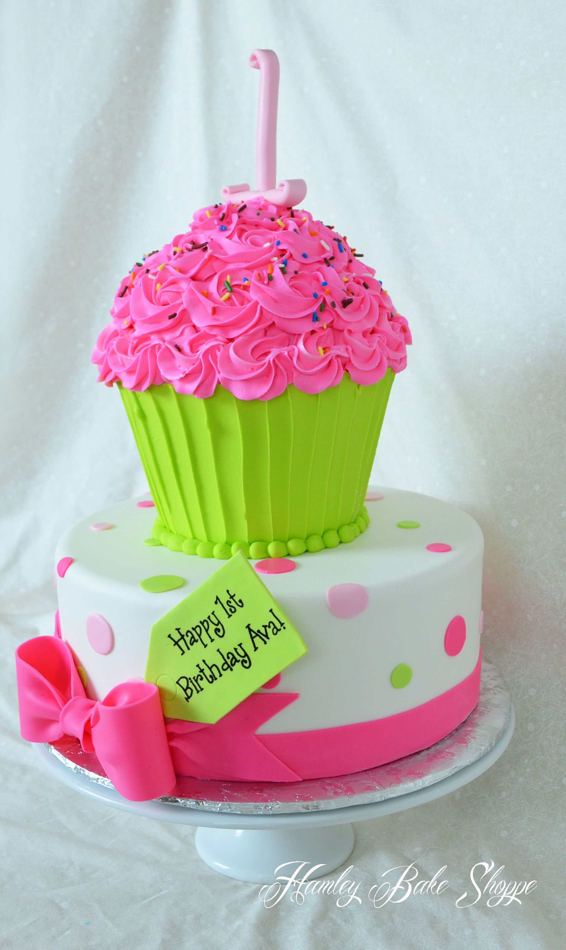 Cupcake Cake Birthdays Pinterest Cake Birthday Cakes And