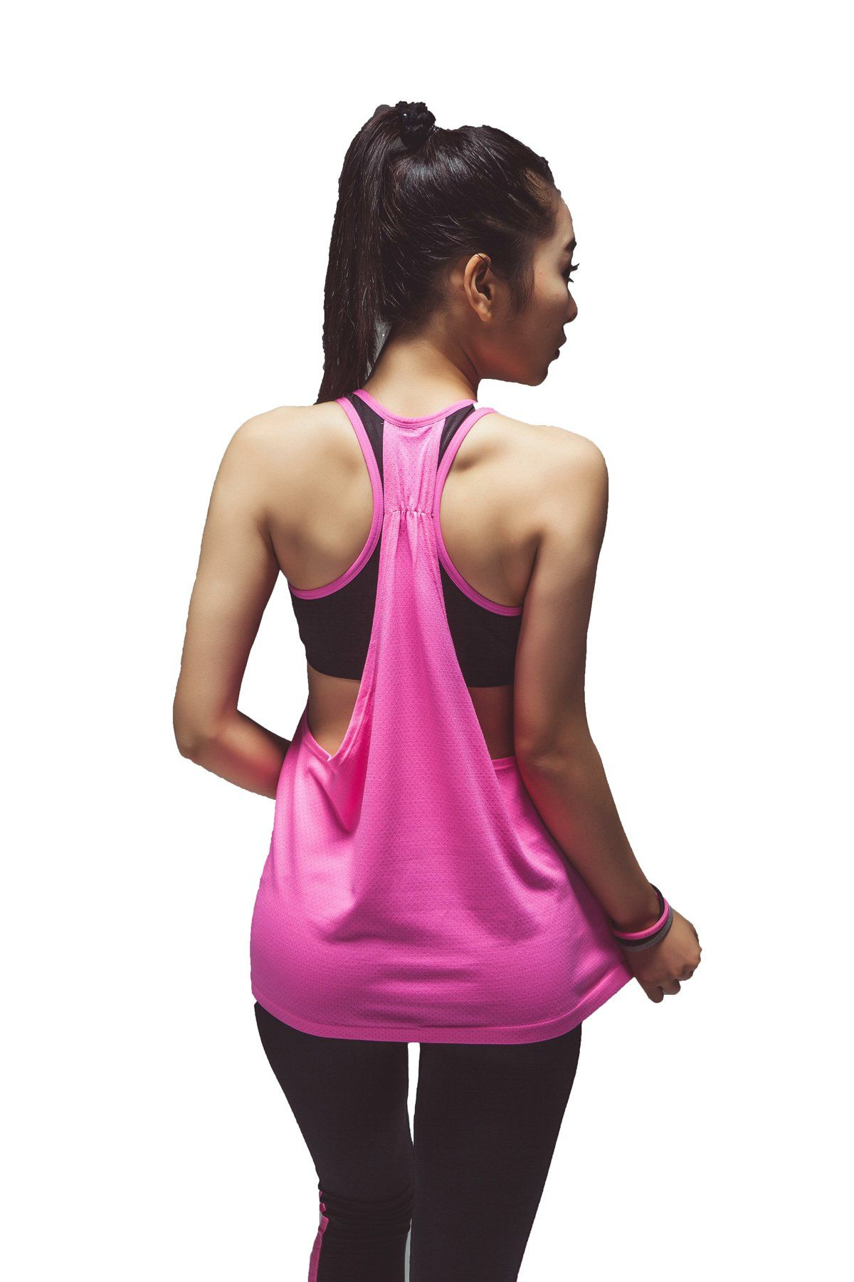 c05d4fa5a56a82 Women s Workout Yoga Crisscross Racerback Tank Tops with Build in Bra (L XL
