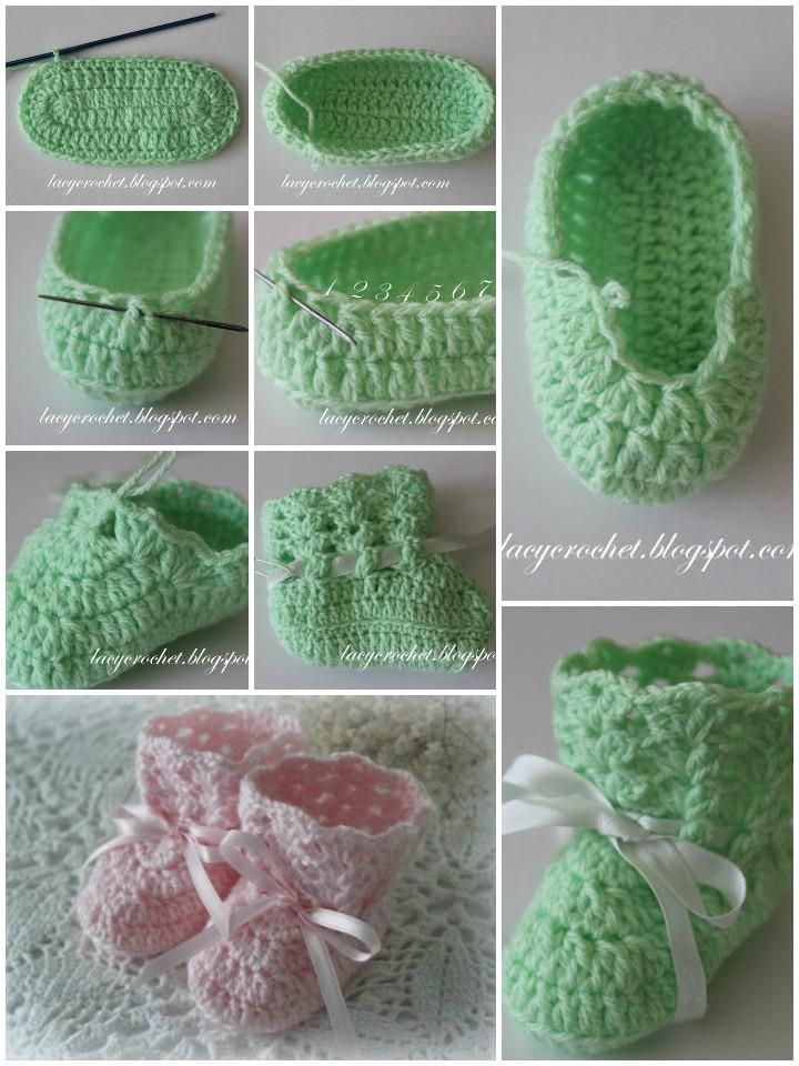 Crochet Baby Booties - Top 40 Free Crochet Patterns | Pinterest ...