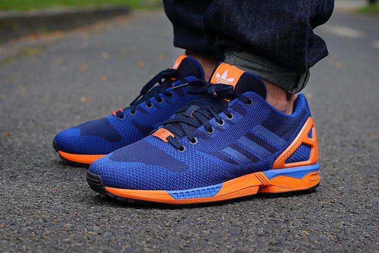 adidas Originals ZX Flux Weave BlueOrange | Adidas zx flux