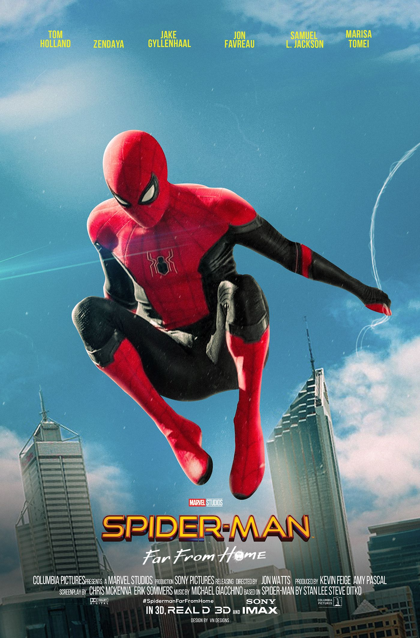 23 Amazing Spider Man Far From Home Fan Made Posters Whatgeek Marvel Superhero Posters Spiderman Spiderman Comic