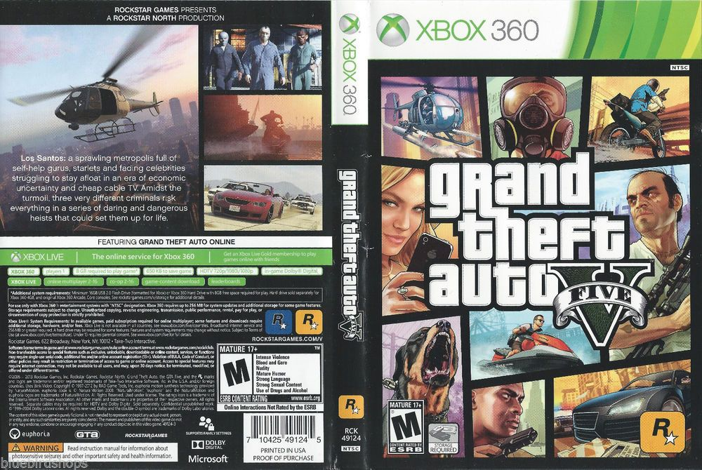 Grand Theft Auto V Xbox 360 No Manual Or Map Grand Theft Auto Games Xbox