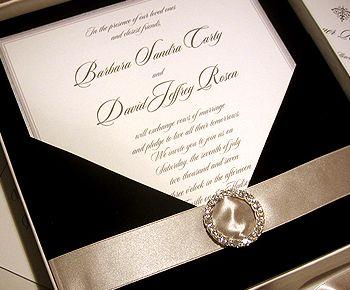 Exceptionnel Elegant Wedding Invitations With Crystals | Black Tie Wedding Invitation    Swarovski Crystal Wedding Invitation
