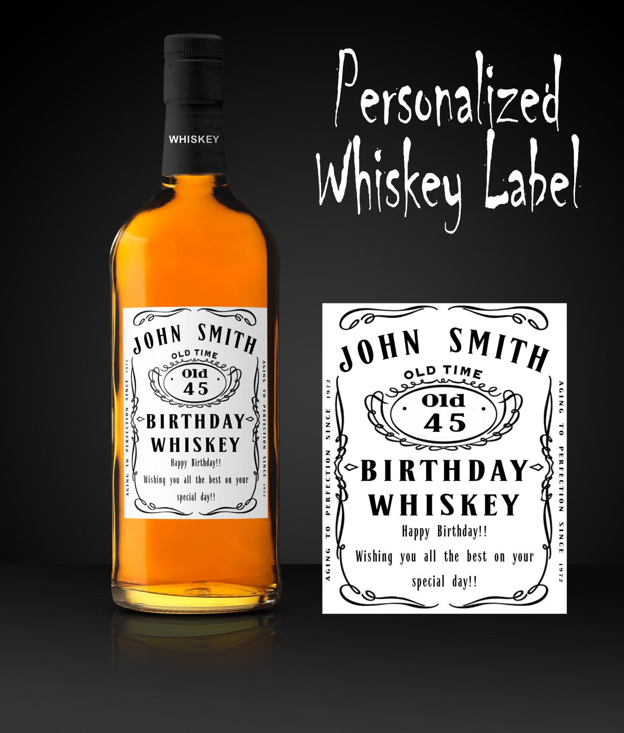 Whiskey Label, Personalized Whiskey Label, Custom Whiskey Label ...
