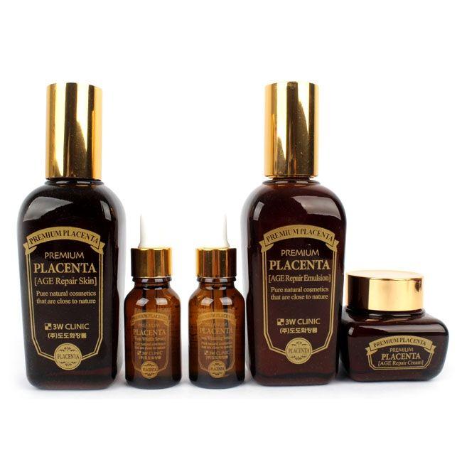 3w Clinic Premium Placenta Skin Care 3 Set Skin Care Repair Cream Clinic