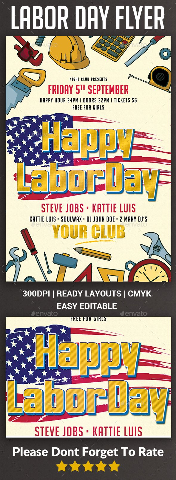 Labor Day Flyer | Labour, Photoshop and Font logo