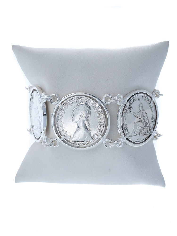 #custom #silver #coins #bracelet #florence #tradition