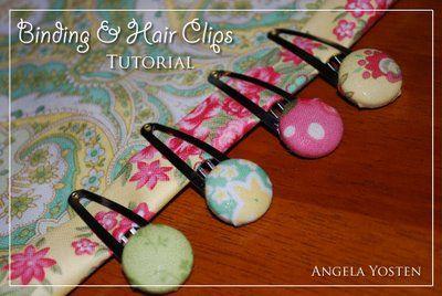 Angela Yosten: NEW Binding & Hair Clips TUTORIAL & GIVEAWAY!!!