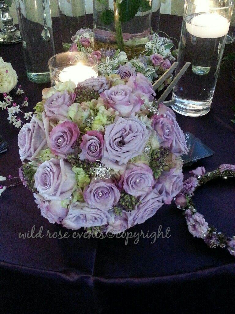Lavender love bridal bouquet #wedding #bridalbouquet #dallasflorist #lavenderrose #bling