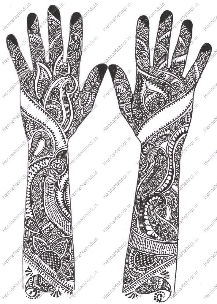 Mehandi Designs Valentines Day Special Bridal Mehndi Design By
