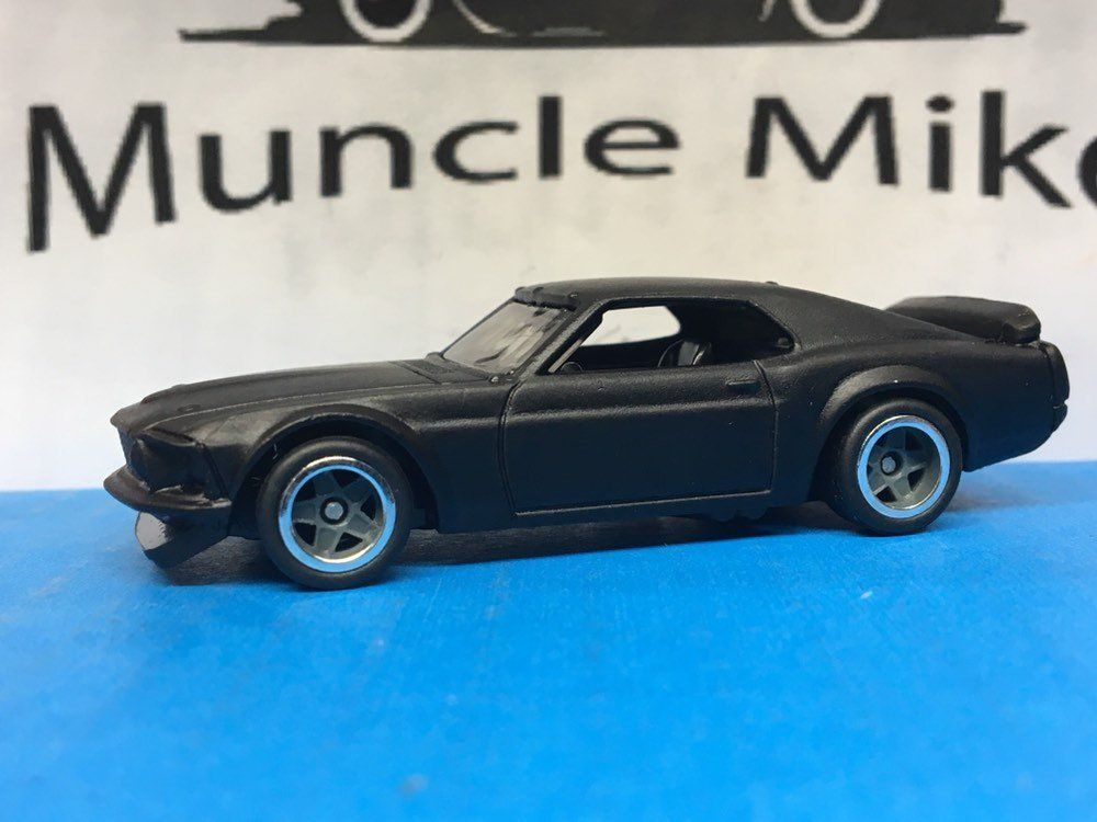 Hot Wheels 1969 Ford Mustang Boss 302 Rubber Tires Custom Painted