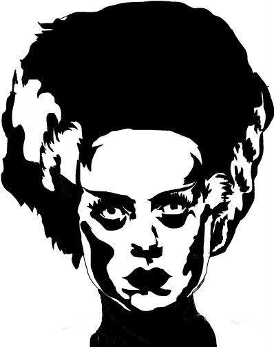Bride Of Frankenstein Vinyl Decal Mary Shelly Boris Karloff Horror Movie Monster Bride Of Frankenstein Frankenstein Art Movie Monsters