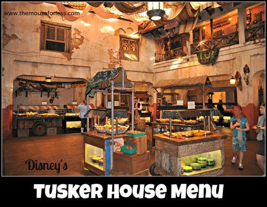 Tusker House Menu Walt Disney World Dining Food Restaurants