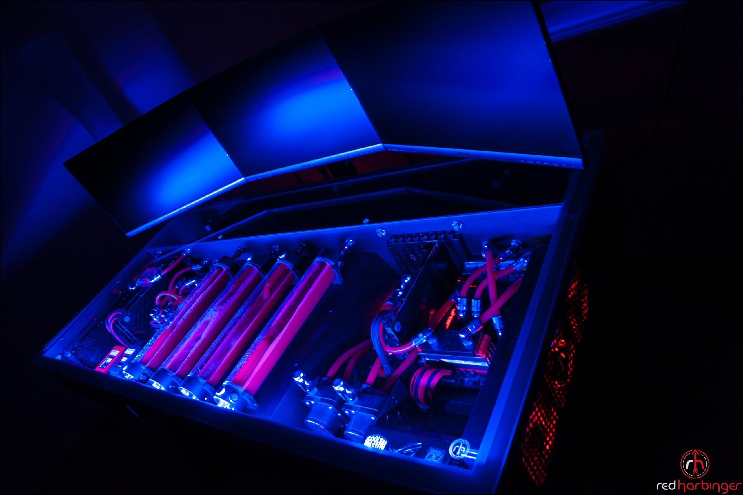 Cross By Red Harbinger Finished Liquid Cooled Computer Desk
