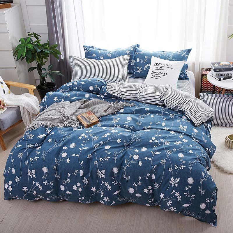 Rural Fresh Bedding Set Modern Simple Bedclothes With Little Flower Pattern 4pcs Duvet Cover Sets Duvet Bedding Bed Duvet Covers Bed Linen Design