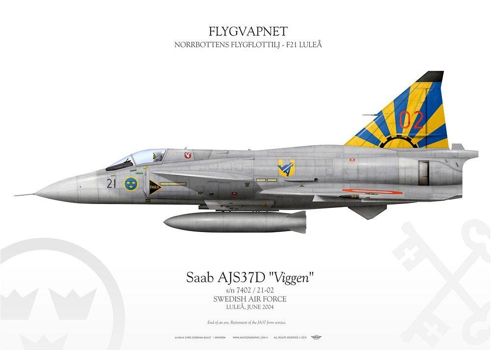 Saab Viggen SWEDISH AIR FORCE . FLYGVAPNET NORRBOTTENS FLYGFLOTTILJ - F21 LULEÅ LULEÅ, JUNE 2004