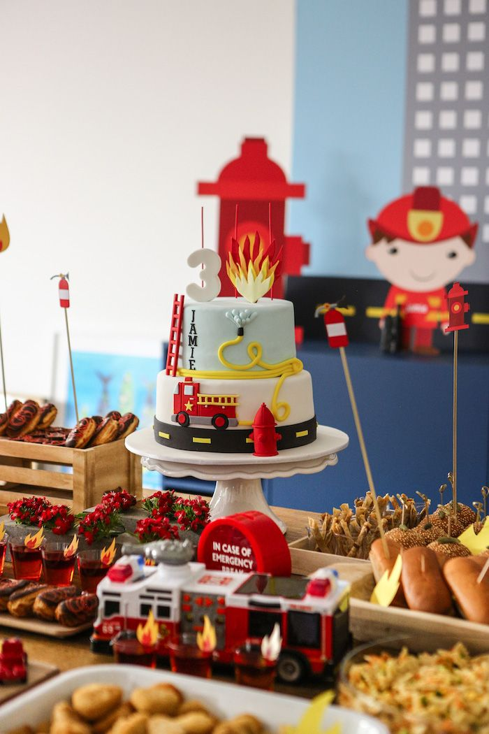 Fireman Birthday Party | Kara's Party Ideas