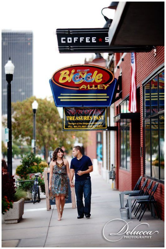 Engagement Portraits - Automobile Alley Oklahoma City
