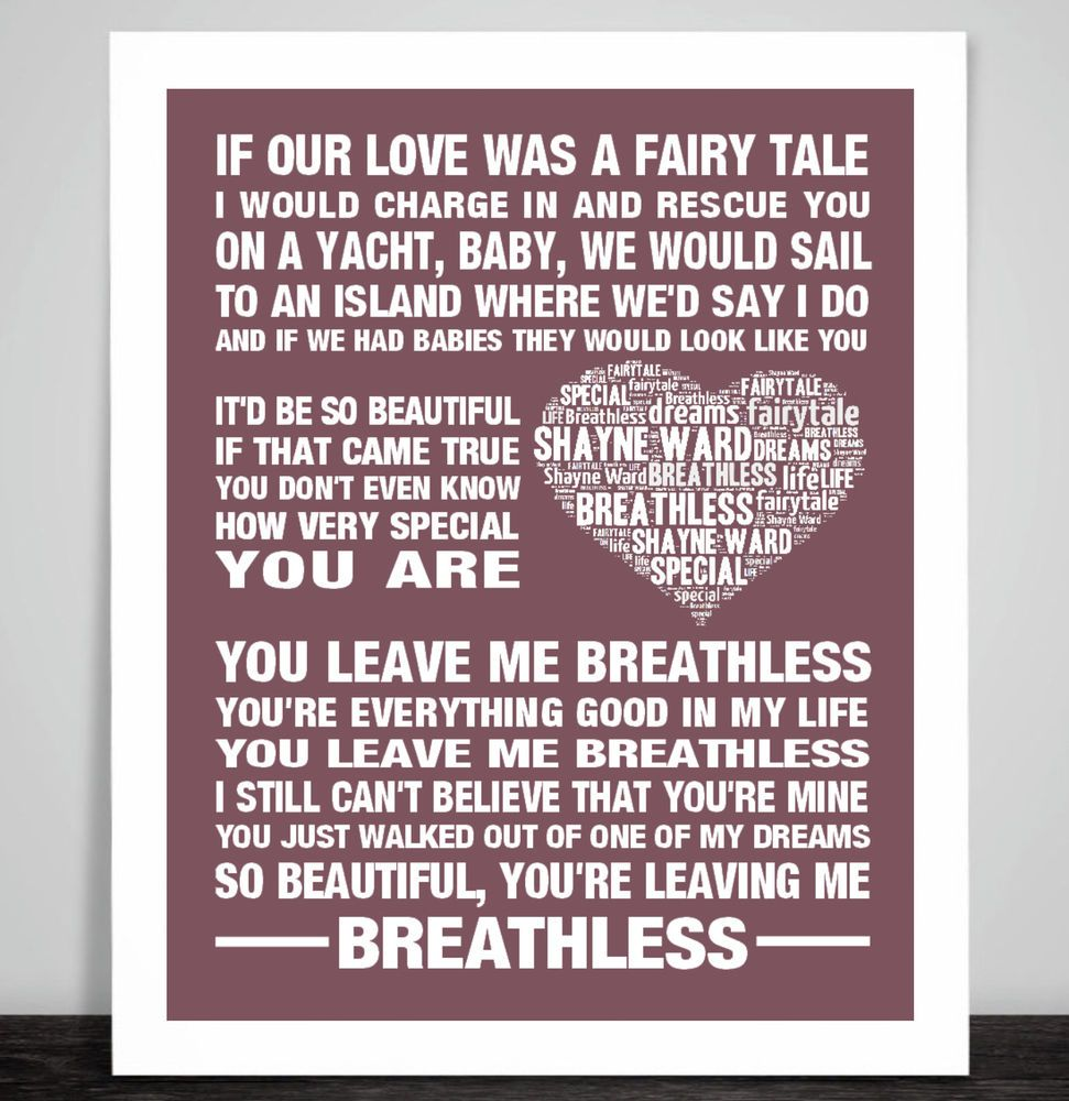 Dance With My Father Heart Song Lyric Quote Print