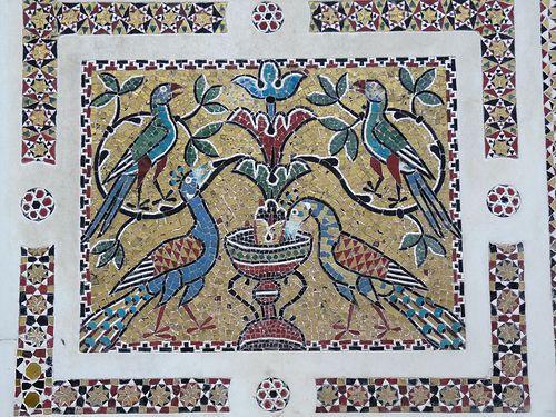 mosaic birds in Ravello cathedral near Amalfi Campania   #TuscanyAgriturismoGiratola