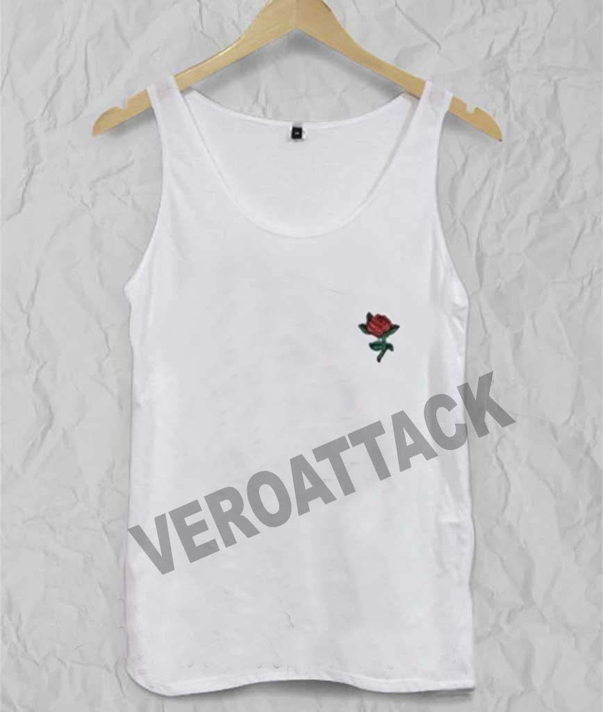 Roses flower adult tank top men and women flower woman and rose