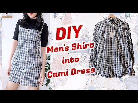 Refashion DIY Men's Shirt into Cami Dress / DIYファッション + 洋服 / 古着リメイク / 옷리폼 / THRIFT FLIPㅣmadebyaya -   13 DIY Clothes Remake style ideas