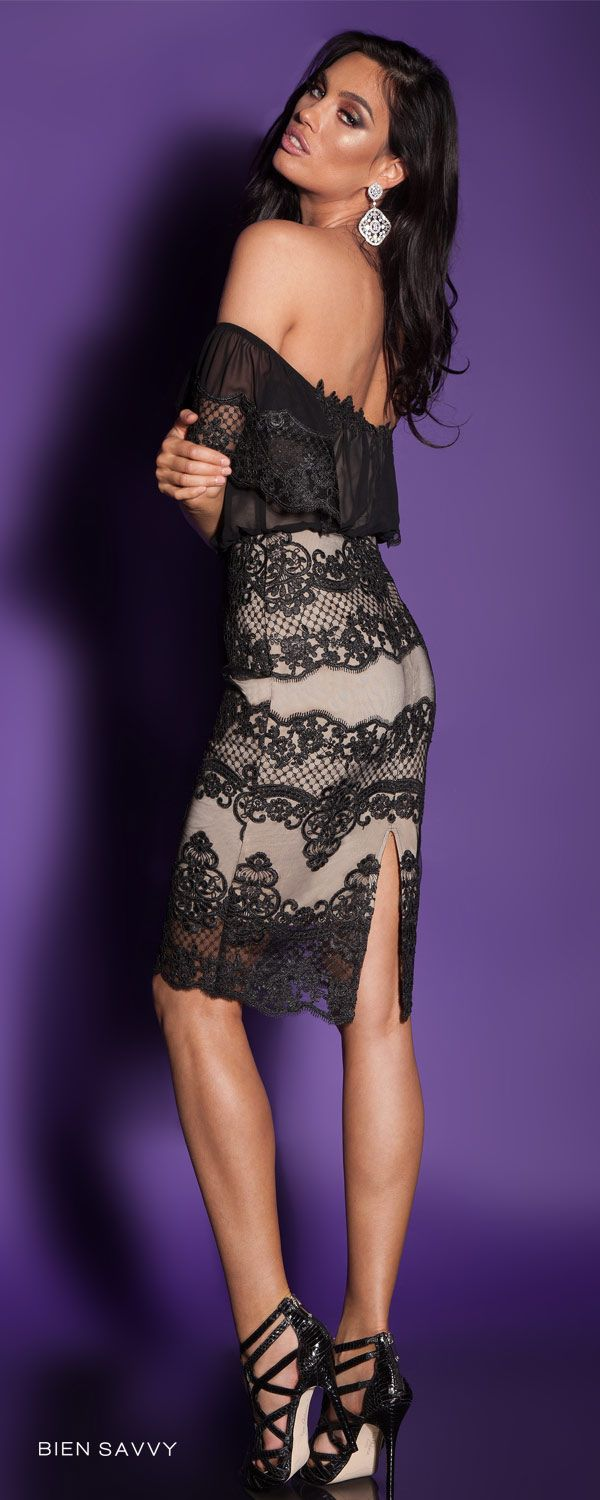2016 Black Lace and Veil Cocktail Dress I Love Holidays, BIEN SAVVY, I Love Me collection