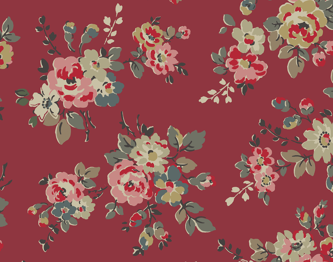 Kingswood Rose Burnt Red | our brand new floral for autumn winter in five colourways, bringing modern vintage to fashion, bags, accessories and home. #cathkidston