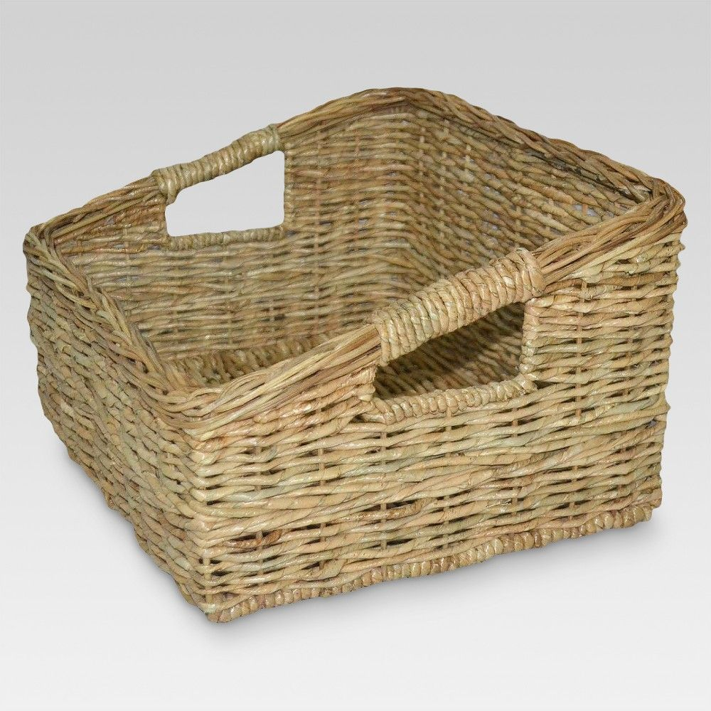 Decorative Boxes And Baskets Khaki Green Threshold Baskets On Wall Decorative Boxes Basket Decoration