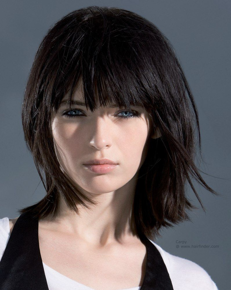 Long trendy bob long and textured bob a beveled cutting line