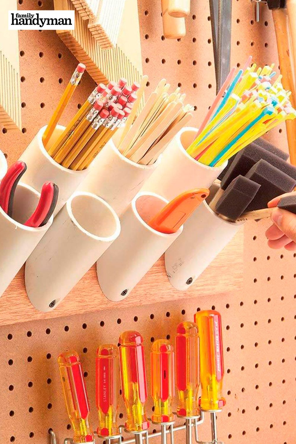 The 56 Most Brilliant PVC Hacks You've Ever Seen: Storage Pipes #familyhandymanstuff